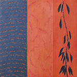 Bernal Heights Autumn - 30 in. x 30 in. - Mixed Media on Hand Carved Panel - Sold