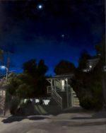 """The Moon & Venus, 2020, oil on linen, 36""""x24"""", framed"""