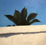 "Succulent, Oil on canvas, 2019, 36""x36"", unframed, $3,000"