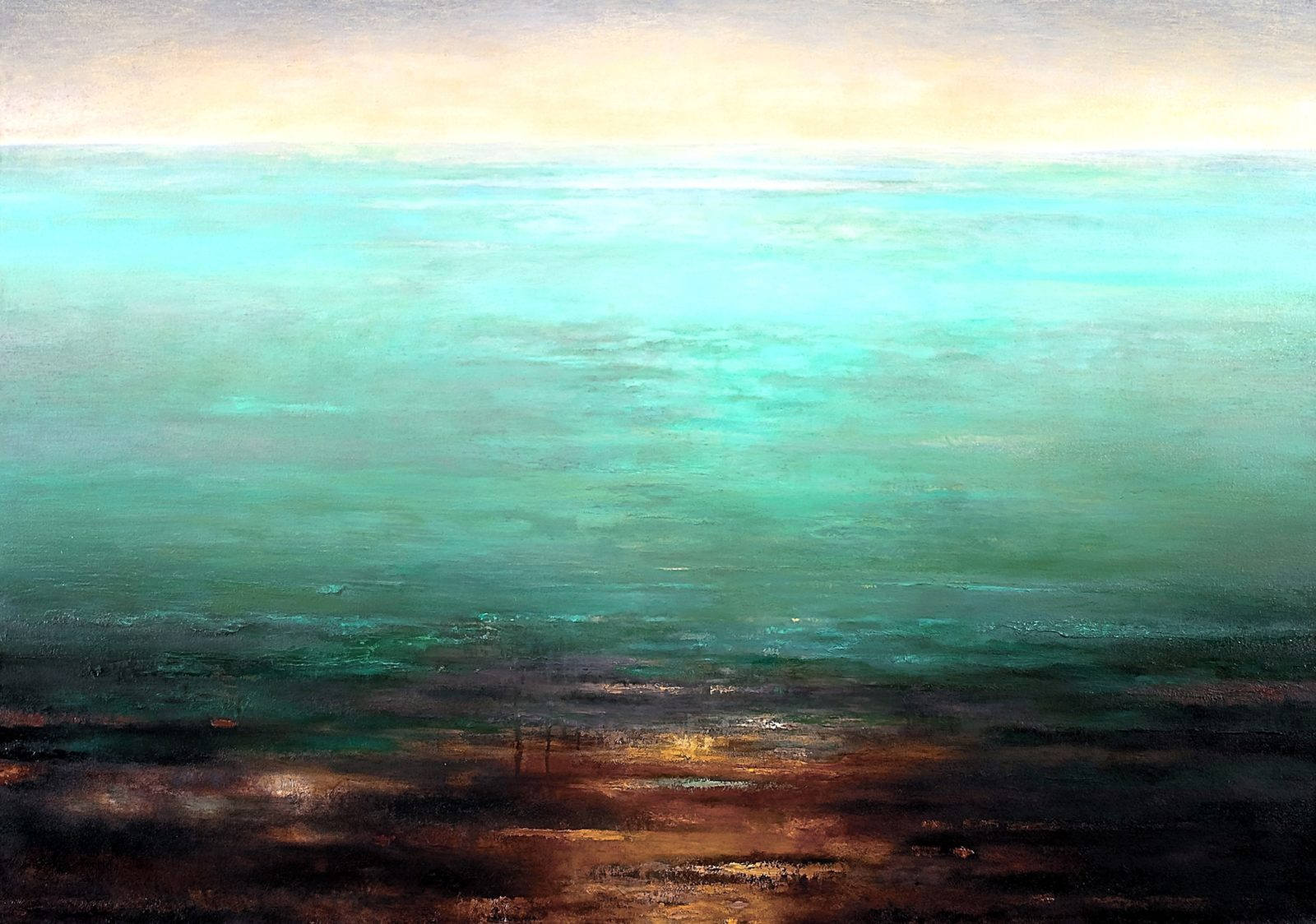 """Calm,oil on canvas, 48"""" x 68"""""""
