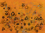 """In Search of Obsolete letters 1, acrylic on canvas, 36""""x48"""""""