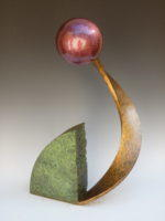 """Steel with patina 18"""" x  10"""" x  7"""" $825"""