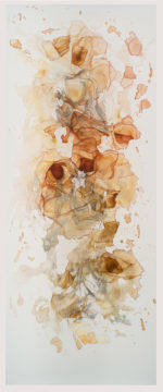 "Rebecca Haseltine  ""Understory #11""  63""X24""  Mixed Media on Mylar  2015"