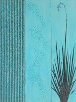 Wand Flower (Botanical Garden) - 3 panels, each 48 in. x 12 in. - Mixed Media on Carved Panel - Sold