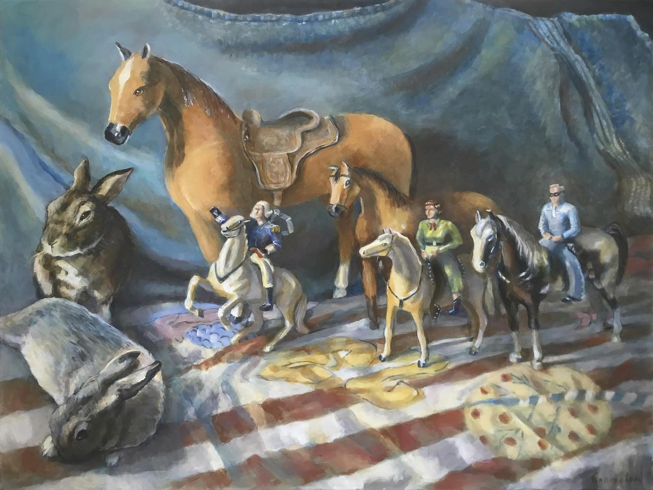Still life w toy Horses