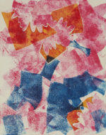"""monoprint with chine-colle collage, 10"""" x 8"""" print on 20""""x16"""" paper,  $500"""