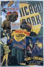 No.5 Black Cinema 1920s-1950s  Collage  Size 12x17