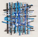 """Blacks and Blues Altered Monotype 34""""x34"""""""