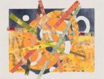 """Yellow/Orange Explosion,#2 10""""x13"""" 2021"""