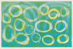 """Circles in Layers Monotype 9""""x12"""" 2021"""