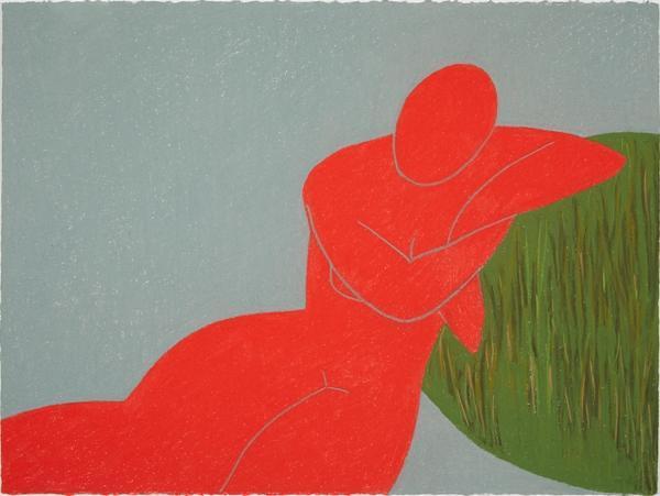 "Elvira Dayel ""Ave,"" drawing, 22 x 30 in"