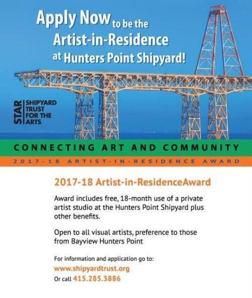 Shipyard Artist in Residence Program Announcement