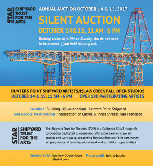 2017 Shipyard Auction poster