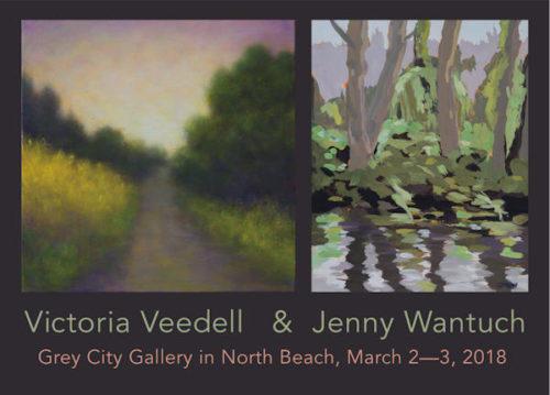 "Grey City Postcard ""Portola Valley Vineyards"" by Jenny M.L. Wantuch"