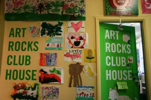 "Art Rocks Clubhouse entrance|Brian Moore ""Art Rocks"""