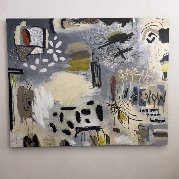 "Dennis Parlante, acrylic on canvas, 60"" x 48"""