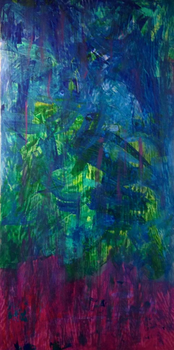 "Aisla Islava ""En Sanidad"" Acrylic on Wood Panel 4'x8'"