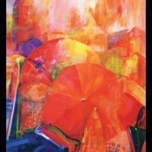 "Florece Schwartz Harlan ""Ligurian Umbrellas"""