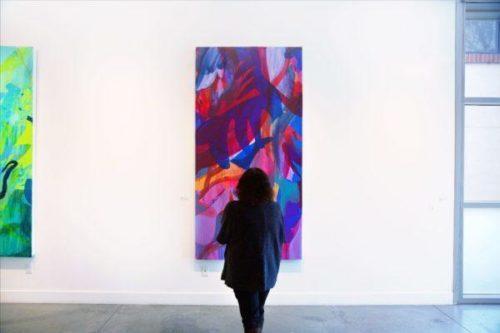 Nicole Mueller painting at Ft Mason