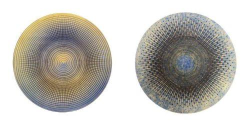 """Carrie Ann Plank """"Interference/Confluence Large Rounds #1 & #2""""