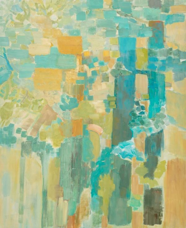 """Wynne Hayakawa, """"Summer Wood,"""" oil on wood panel, 44 by 36 inches, ©2014"""