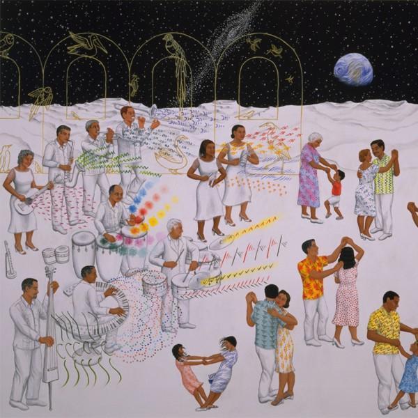 """Carmen Lomas Garza: """"Titos gig on the moon"""""""