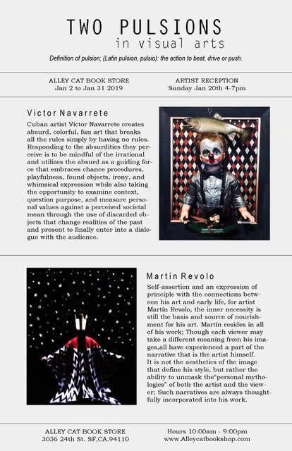 """""""Two Pulsions flyer for Navarrete-Revolo show"""