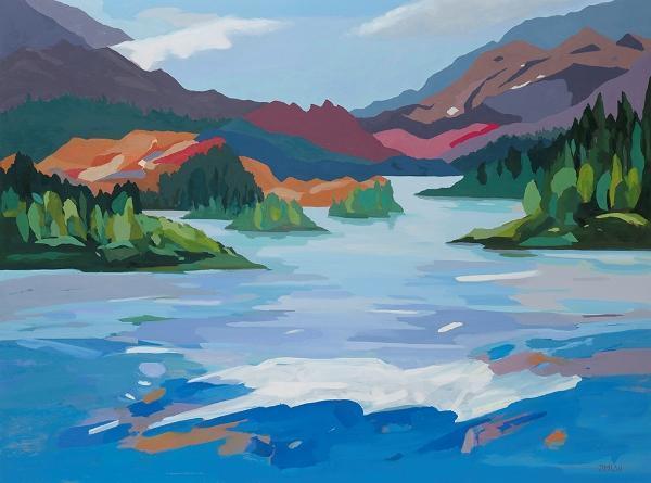 """Jenny M.L. Wantuch, """"Hawk Lake"""", oil on panel, 30x40"""""""