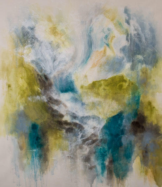 "Thea Schrack ""Where The World Dreams 7,"" 75x65 Acrylic on Canvas"