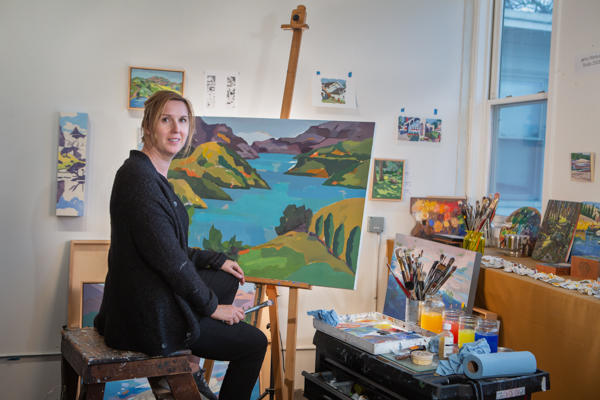Jenny Wantuch in her studio