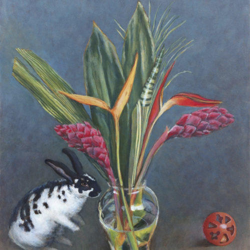 Still life with Flowers and Rabbit