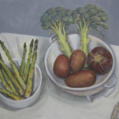 Still life w Asparagus