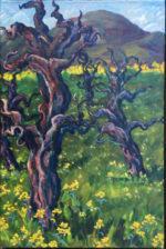 Begun en p  lein air in Calistoga, Ca. at an old zinfandel vineyard