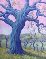 "Castoro Cellars Oak 14"" x 18"" oil on canvas"