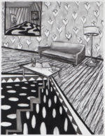 Charcoal Interior with Corrective Fracture, 2020 charcoal on paper 24.5 x 19 inches