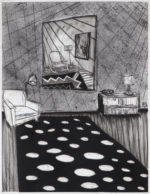 Charcoal Interior with What Could Have Been, 2020 charcoal on paper 24.5 x 19 inches