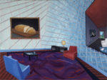 Interior Seeking the Perfect Slice, 2020 oil on canvas 36 x 48 inches