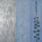 Delphinium - 30 in. x 30 in. - Mixed Media on Carved Wood Panel - Available