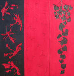 Homage to Autumn (Triptych) - 3 panels, each 36 in. x 12 in. - Mixed Media on Carved Wood Panel - Available