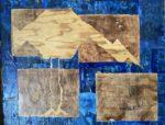 The Blue and Brown  Painting/Mixed Media  Size 32x24