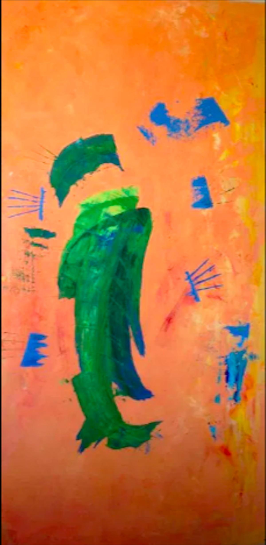 "Aisla Islava ""Ojos De Bruja"" Acrylic on Wood Panel"