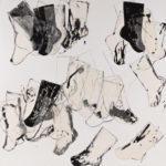"Kay Kang, Journey, Mixed media on canvas, 48""x48"""