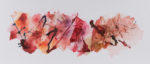 "Rebecca Haseltine Range Red #2 24""X60"" Ink on Mylar"