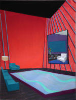 Red Interior with Almost Matching Furniture, 2020 oil on canvas 40 x 30 inches