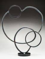Rising Circle, Patinaed steel,16x13x4, $1280