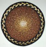 """2010, stone and gold smalti, 28"""" diameter"""