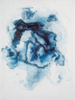 "Rebecca Haseltine Sluice #10 40""X30"" Ink on Mylar"