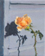 """Rosebud"", 6"" x 5"", oil on canvas"