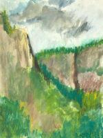 Yosemite from Swinging bridge#7
