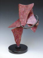 """Comes The Fall __ 17"""" x  11"""" x  8""""__Steel on Granite Base"""